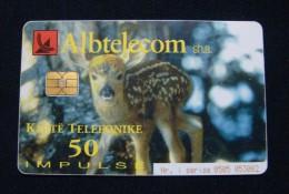 ALBANIA CHIP CARD 50 UNITS 2002, HIGH QUALITY, USED. - Albania