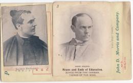 Jacinto Verdaguer & Bishop Spalding Images Glued On John D. Morris Postcard [16664] - Popes