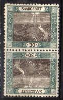 Sarre 57 C  ** Paire Tete Beche Rare - 1920-35 League Of Nations