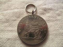 Ethiopia: Menelik Medal For Civil And Military Service - Royaux / De Noblesse
