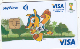 BRAZIL - FIFA World Cup Brasil, Visa, Intelcav Sample - Geldkarten (Ablauf Min. 10 Jahre)