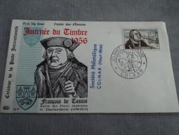 Env. JOURNEE DU TIMBRE 1956 - Colmar 17/03/1956 - FDC