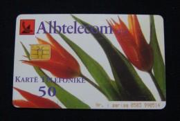 ALBANIA CHIP CARD 50 UNITS 2001, HIGH QUALITY, USED. - Albania
