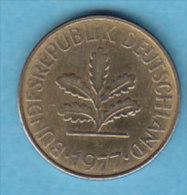 ALLEMAGNE  10 PFENNIG   ANNEE 1977 (LETTRE J  HAMBOURG)   LOT ALL2023 - 10 Pfennig