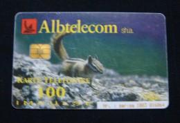 ALBANIA CHIP CARD 100 UNITS 2002, HIGH QUALITY, USED. - Albania