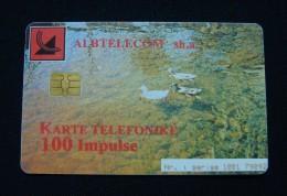 ALBANIA CHIP CARD 100 UNITS 2000, HIGH QUALITY, USED. - Albania