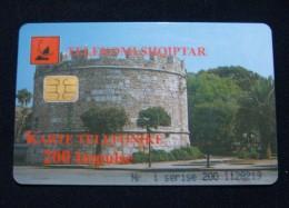 ALBANIA CHIP CARD 200 UNITS 1999, GOOD QUALITY, USED. - Albania