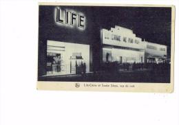 Bruxelles 1935 - La Lampe D´eclairage MAZDA - Life-Crime Snake Show  Vu De Nuit - Monstres Géants - CINEMA - - Brüssel Bei Nacht