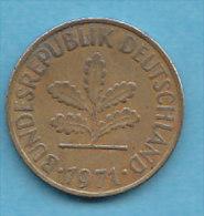 ALLEMAGNE  10 PFENNIG   ANNEE 1971 (LETTRE J  HAMBOURG)   LOT ALL2028 - 10 Pfennig
