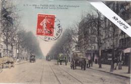Paris XIX (19), Rue De L´Allemagne, Rue Lally-Tollendal, Carte Colorisée Animée , Ed E.V. 304 - Arrondissement: 19