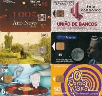 *PORTOGALLO* - Lotto Di 6 Schede Usate Differenti - Portogallo