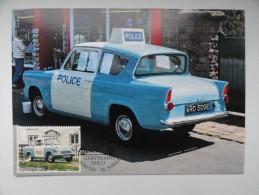 CARTE MAXIMUM CARD  FORD ANGLIA POILICE CAR GRANDE BRETAGNE - Auto's