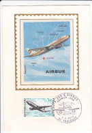 CPSM AVION AIRBUS 300 B TOULOUSE  TIMBRE MAXIMUM 1 ER JOUR 1973 GEOGRAPHIQUE EUROPE - 1946-....: Era Moderna