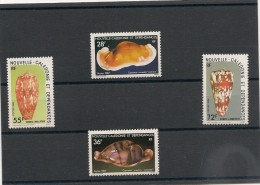 NOUVELLE CALÉDONIE  Lot Coquillages Années 1985/87  N° 498/499-538-539** - Lots & Serien