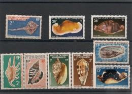 NOUVELLE CALÉDONIE  Lot Coquillages Années 1968/87 Tous** Côte: 26,50 € - Lots & Serien