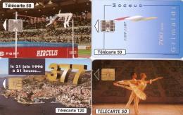 *MONACO* - Lotticino Di 4 Schede A Chip Usate Differenti - Monaco