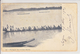 LAOS -  PIROGUES DE COURSES - DOS UNIQUE - 3.01.1904 - - Laos