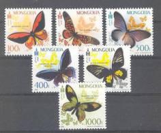 Mongolia (2010) - Set -  /  Butterfly - Papillon - Mariposa - Farfalle - Borboleta - Vlinders
