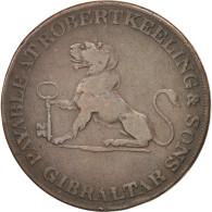 Gibraltar, 2 Quartos, 1810, TTB, Cuivre, KM:Tn4.2 - Gibraltar