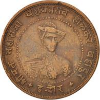 INDIA-PRINCELY STATES, INDORE, Yashwant Rao II, 1/4 Anna, 1935, Indore, TB+,... - Inde
