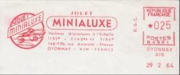 France 1964 - Jouet Minialuxe - Voitures Miniatures 1/32e 1/43e 1/86e - Oyonnax - EMA - Meter - Fragment - 29-02-1964 - Cars