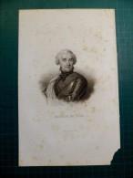 Estampes Tiré De Livre - Maurice De Saxe - Sc Hopwood Par Furne - 18 X 25 Cm - Estampes & Gravures