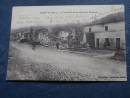 Guerre 1914  Marbotte  La Grande Rue Bombardée Par Les Allemands - Animée - Ed. Luce - écrite 1915 - L246 - France