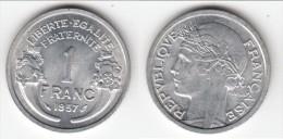 QUALITE **** 1 FRANC 1957 MORLON ALUMINIUM **** EN ACHAT IMMEDIAT !!! - France