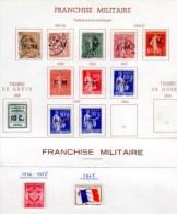 Franchise Militaire, Timbre De Guerre, FM  1 /10*- GR 1*, Cote 92 €, - Franchise Stamps