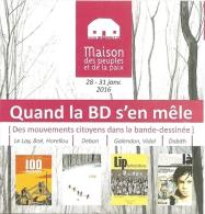 Programme - Quand La BD S'en Mêle (Des Mouvements Citoyens Dans La Bande Dessinée) - MPP Angoulême 2016 - [FIBD] - Programas