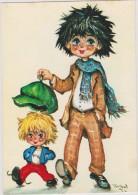Illustrateur :   Michel Thomas :  Gamins , Deux  Copains - Künstlerkarten