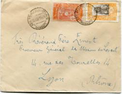 COTE FRANCAISE DES SOMALIS LETTRE DEPART COTE FRANCAISE DES SOMALIS 10 AOU 1924 DJIBOUTI POUR LA FRANCE - Côte Française Des Somalis (1894-1967)