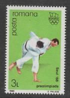 TIMBRE NEUF DE ROUMANIE - JUDO (PREOLYMPIQUE J.O. DE SEOUL) N° Y&T 3809 - Judo