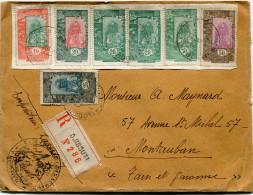 COTE FRANCAISE DES SOMALIS LETTRE RECOMMANDEE DEPART COTE Fse DES SOMALIS 16 JUIL 31 POUR LA FRANCE - Côte Française Des Somalis (1894-1967)