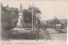 Cpa  POITIERS ENSEMBLE DU MONUMENT DES COLONIAUX VERS LA GARE - Poitiers