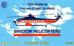 TELECARTE FALKLAND *£ 7,50  Bristow Hélicopters - Falkland