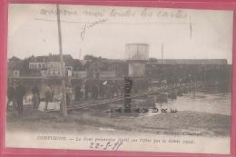 60 - COMPIEGNE--le Pont Provisoire Etabli Sur L'Oise Par Le Génie--animé - Compiegne