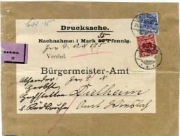 Reich - Devant  Lettre Recommandée   Avec N°47 / 48  Michel   -  Linkenheim  Pour  Dielheim  1897 - Alemania