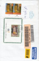 Nazioni Unite Vienna 2007 - Lettera Racc.  X L´Italia Affrancata Con 2 Stamps+foglietto - Centre International De Vienne