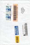 Nazioni Unite Vienna 2007 - Lettera Racc.  X L´Italia Affrancata Con 2 Stamps - Centre International De Vienne