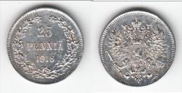 **** FINLANDE - FINLAND - 25 PENNIA 1916 - ARGENT - SILVER **** EN ACHAT IMMEDIAT - Finlande