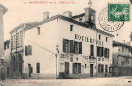 V1044 Cpa 82 Montricoux - L' Hôtel De Ville - Non Classés