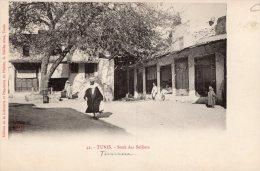 V1060 Cpa Tunis - Souk Des Selliers - Tunisie