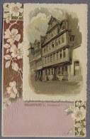 Frankfurt A. Main    Gothehaus Uber 1900y. LYTOGRAPHIE  Carte Gaufrée  Prägedruck Embossed  B765 - Frankfurt A. Main