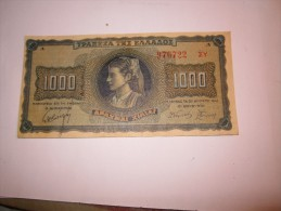 ---------1-BILLET--1000--drachmai---1942-GRECE-------- - Grèce