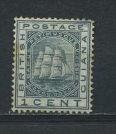 BRITISH  GUIANA    1882   1c  Slate  (slight Stain Hence Price   MH (heavy Hinge) - British Guiana (...-1966)