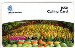 JAMAIQUE REF MV CARDS JAM-P85 50$ FRUITS - Jamaïque
