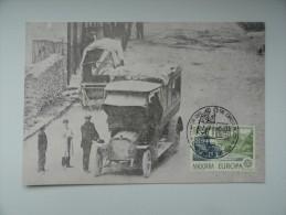 CARTE MAXIMUM CARD EUROPA 1979 AUTOBUS POSTAL ANDORRE - Other