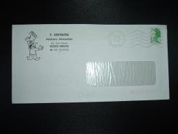 LETTRE TP LIBERTE DE GANDON 1,70 OBL.MEC.31-10-1984 AMIENS LES PLATANES (80 SOMME) J. DOIGNON PEINTURE DECORATION - Postmark Collection (Covers)