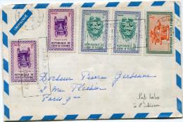 COTE D´IVOIRE IMPRIME AVEC PUBLICITE LABORATOIRES DIAMANT A L´INTERIEUR DEPART ABIDJAN 6-?-1963 POUR LA FRANCE - Ivory Coast (1960-...)